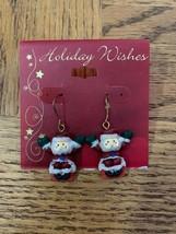 Vintage Christmas Santa Earrings - $18.50