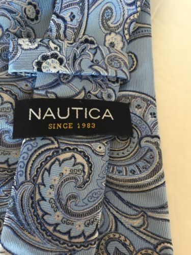 79a738c325a Classic Nautica Blue Paisley 100% Silk Men and 50 similar items