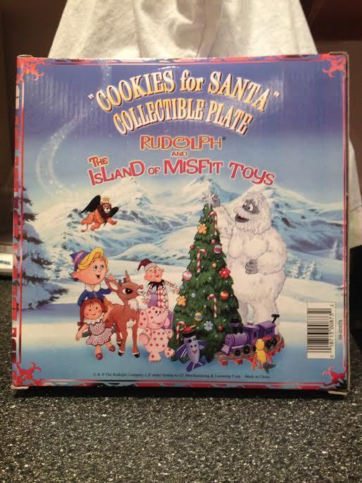 Rudolph The Island of Misfit Toys Cookies for Santa Collectible Plate New in Box image 2
