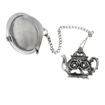 Stainless Steel Tea Ball With Teapot Charm - $12.99