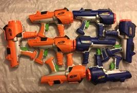 8 Nerf Dart Tag Orange Blue Blaster Guns Hyperfire 10 Barrel Party Holid... - $94.95