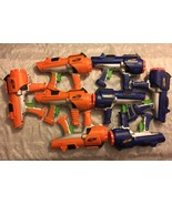 8 Nerf Dart Tag Orange Blue Blaster Guns Hyperfire 10 Barrel Party Holid... - $94.95