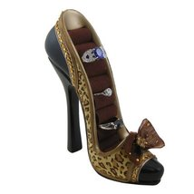 Leopard Print With Bow Pump Ring Organizer Gold - $16.99