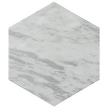 "SomerTile FEQ8BXL Murmur Bardiglio Hexagon Porcelain Floor and Wall Tile, 7"" x 8"