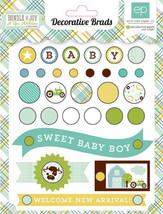 Echo Park - Bundle of Joy Decorative Brads (Baby Boy), 31 brads/4 tags - $3.50