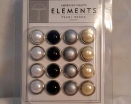 American Crafts - Elements Pear Brads, Elegant 16 pieces - $1.99