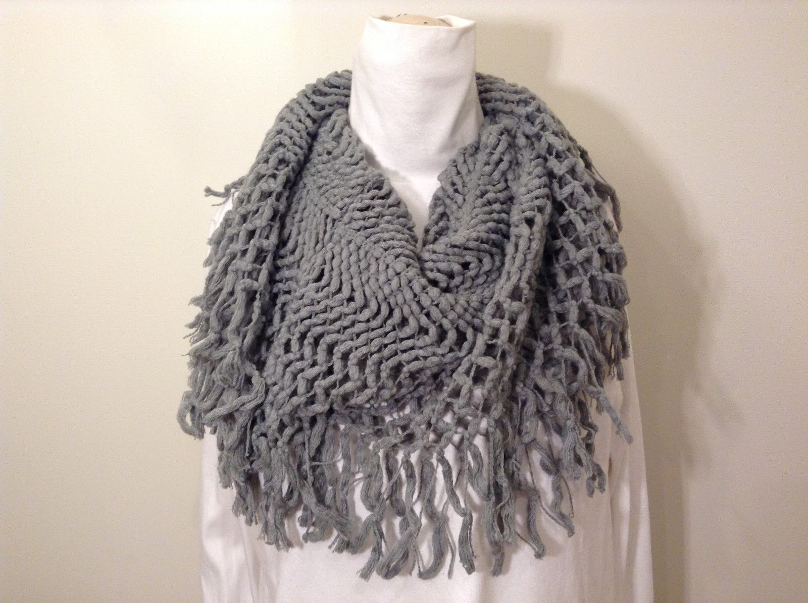 Beautiful Long Gray Knitted Vest