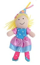 Puppettos Finger Puppet Princess Girl Doll Plush Blonde Toy - $3.95
