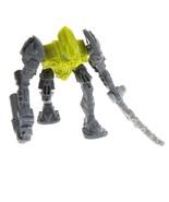 "Bionicle Legos JointedAction Figure 2008 McDonald's 4"" Green GrayD9N - $3.95"