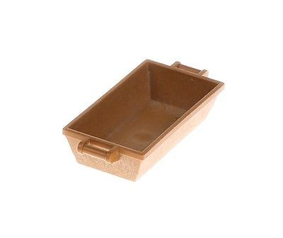 Playmobil Brown Rectangle Toy Tray Deep Large Miniature Dollhouse