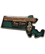12 State Pins - MASSACHUSETTS , hat lapel pin #4604 - $8.00
