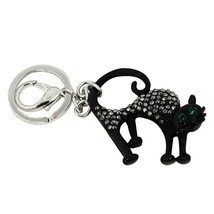 Lucky Black Cat Key Chain and Purse Charm - $244,11 MXN