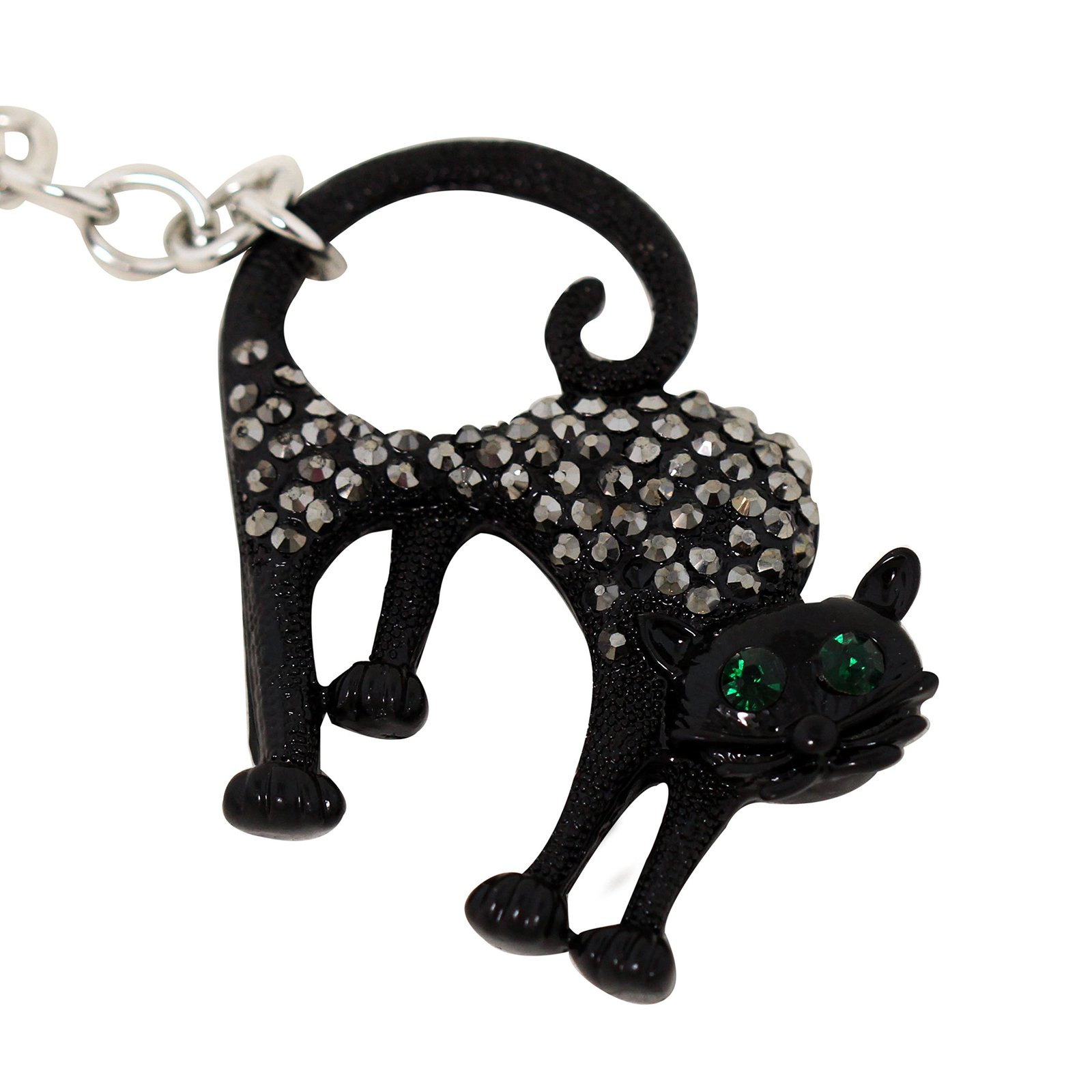 Lucky Black Cat Key Chain and Purse Charm