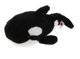 Webkinz Killer Orca Whale Black White Stuffed Stuff Plush Animal - $3.95
