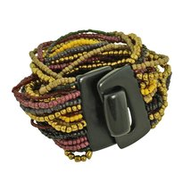 Bead Overload Bracelet, Brown and Plum - $9.99