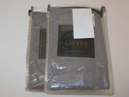 2 Ralph Lauren Speed & Style Grey Pinstripe Standard Shams - $75.95