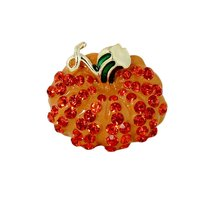 Bejeweled Pumpkin Ring with Stretchy Band - $9.99