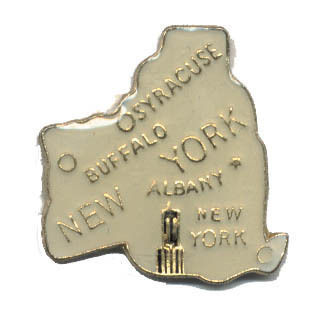 12 State Pins - NEW YORK , states hat lapel pin #481