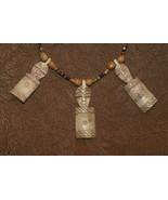 Borneo Tribal Ethnic Hand made Dayak Buffalo Bone & Beads Good Luck Neck... - $47.49