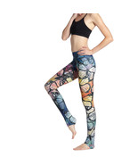 New Women Ladies Yoga Running Pants Gym Fitness Printed butterfly Leggin... - $18.18