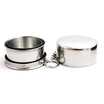 Travel Folding Collapsible Cup Stainless Steel Portable 75ML Mini Outdoo... - $4.11