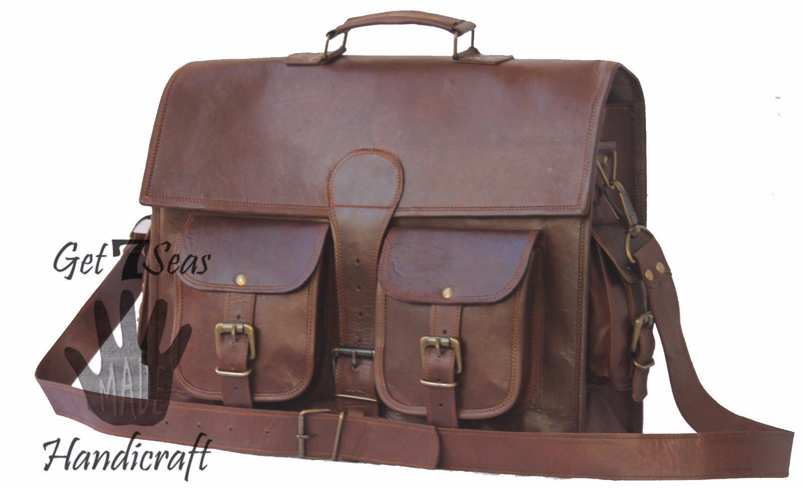 Messenger bag for women leather briefcase men's shoulder laptop men satchel bags