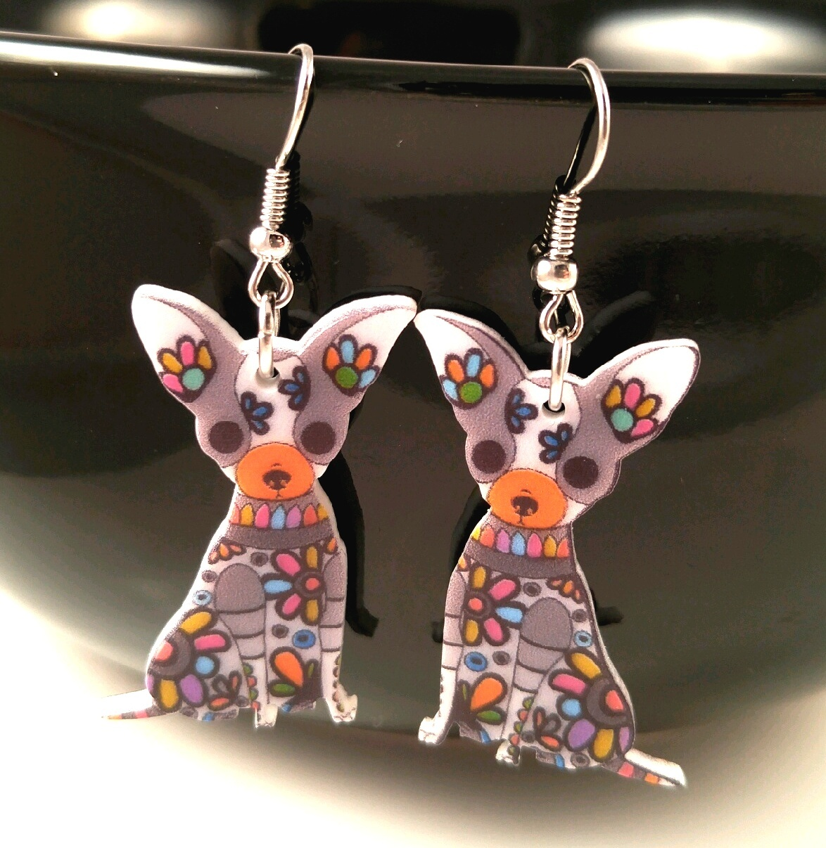 e16cd1661 Chihuahua Multi Color Earrings 2 CHOICES and 30 similar items. Three chi  ear cid 20161213 195113