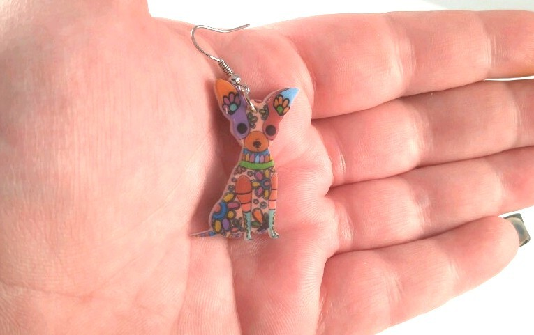 b8d59fcb8 Chihuahua Multi Color Earrings 2 CHOICES and 30 similar items
