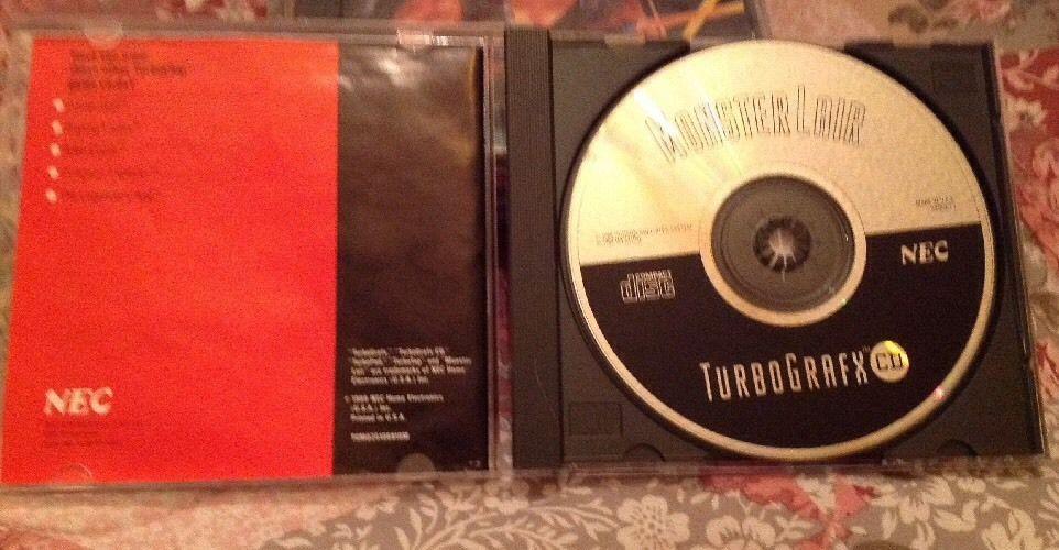 Turbo Grafx 16 CD 1989 Entitled Monster Lair. Very Good.