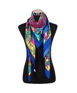 Designer Style Large Square Scarf Silk Like Premium Quality -Indian Fant... - $18.99