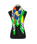 French Horse Designs Scarf, Green - $19.99