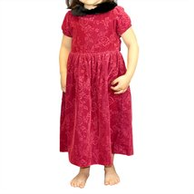 Gymboree Victorian Charm Red Velvet Faux Fur Rose Dress (4 year) - $11.99