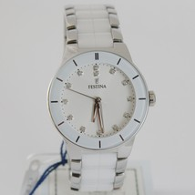 FESTINA WATCH QUARTZ MOVEMENT 35 MM CASE 5 ATM WHITE FACE WHITE CERAMIC ZIRCONIA image 1