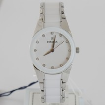 FESTINA WATCH QUARTZ MOVEMENT 30 MM CASE 5 ATM WHITE FACE WHITE CERAMIC ZIRCONIA