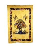 PAGAN/SPIRITUAL Mushrooms& dragonfly Iconic Indian wall hanging./DOUBLEb... - $50.79