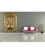 PAGAN/SPIRITUAL ICONIC TREE OF LIFE -BROWN wall hanging/DOUBLE BEDSPREAD. - $47.78