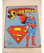 Superman Retro Tin Superhero Sign -  Kids Bedroom - Man Cave - $7.37