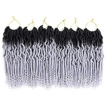 6 Packs Mini Passion Twist Hair 12 Inch Ombre Colors Bomb Twist Hair for Pre-loo
