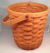 Longaberger Tall Fruit Basket Warm Brown w/ Protector - $29.35