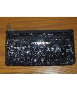 Victoria's Secret Black Sequin Bling Reversible Clutch Purse 2012 Makeup... - $25.00
