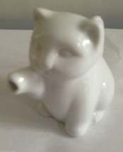 "Cat Coffee Creamer White Ceramic Two's Company 3"" Tall Kitty Lover Chris... - $19.39"