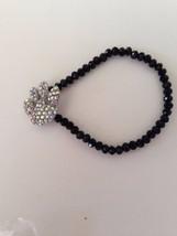 Paw Print Stretch Bracelet Aurora Borealis Crys... - $19.38