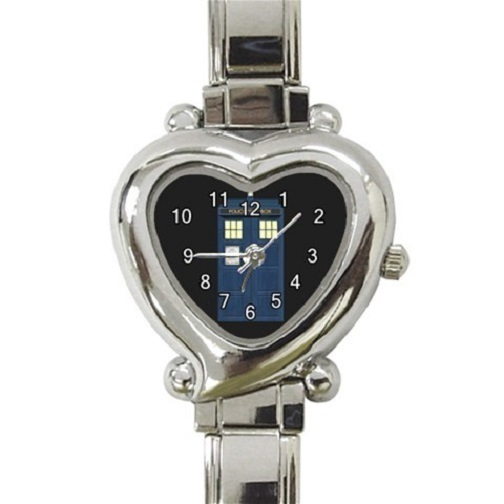 Ladies Heart Italian Charm Bracelet Watch Doctor Who Tardis Gift Model 39082141