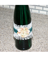 Dark Green Teal Color Decorative Wine Bottle Fl... - $8.99