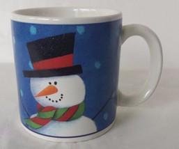 Snowman Winter Holiday Season Sakura Coffee Mug Cup - $13.13