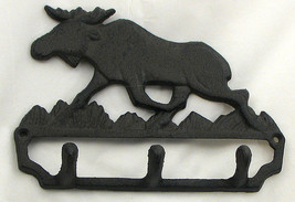 Cast Iron Moose Wall Hook Cabin Lodge Decor - $279,45 MXN