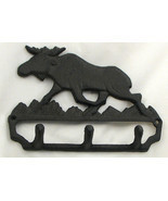 Cast Iron Moose Wall Hook Cabin Lodge Decor - $278,95 MXN