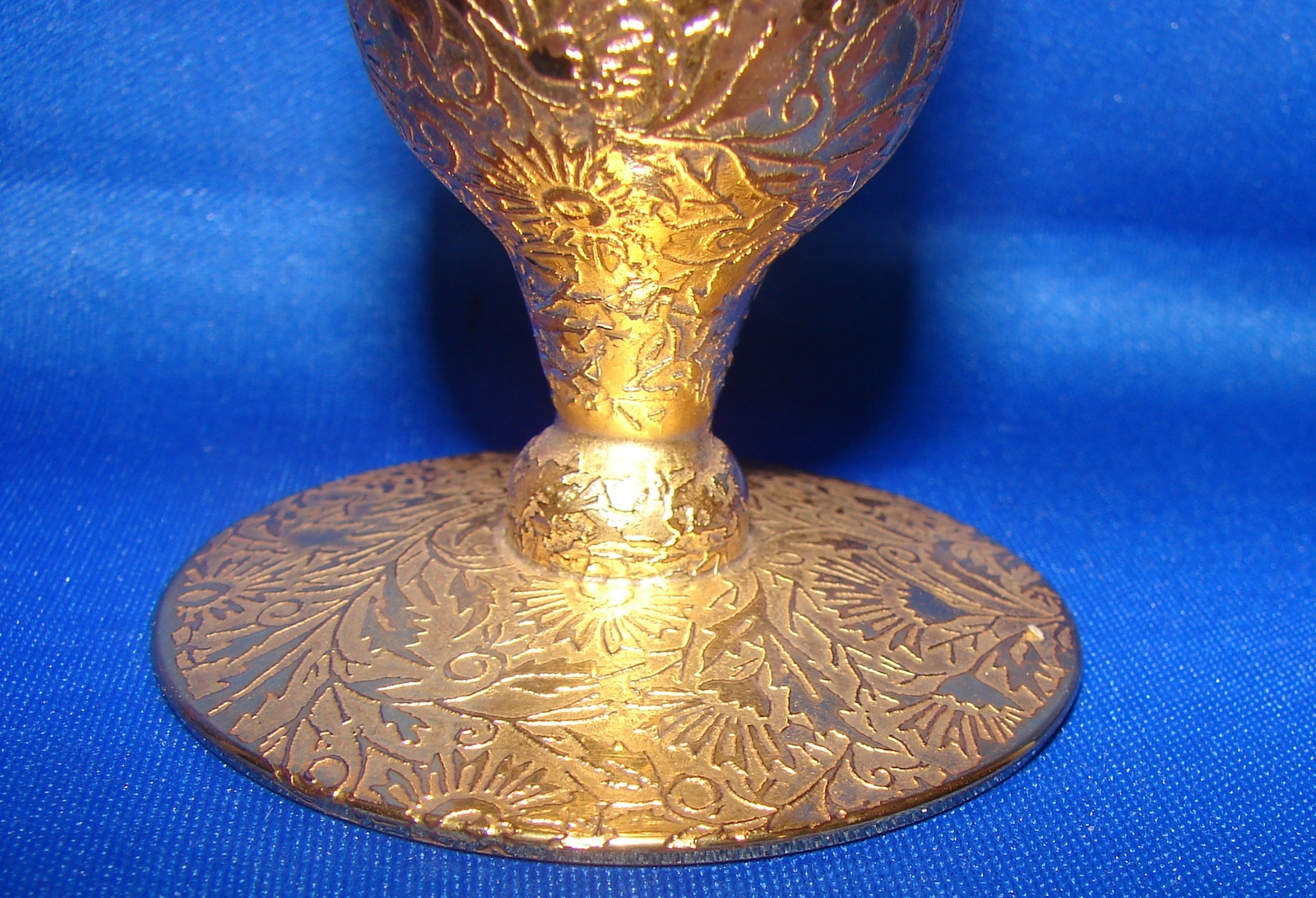 22k Gold Enameled Glass Bud Vase,