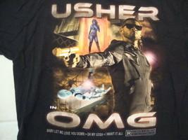 Usher Singer In OMG Baby Let Me Love You Down Concert Tour Black T Shirt... - $23.26