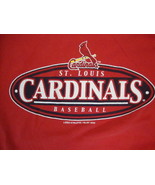 Vintage MLB St. Louis Cardinals Baseball Logo Athletic Red T Shirt Size M - $20.29